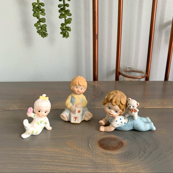 Vintage Small Baby Figurines Lot of 3